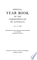 Official Year Book Of The Commonwealth Of Australia No 52 1966