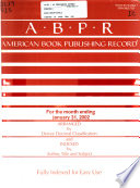 American Book Publishing Record  , Volume 43,Edições 1-6