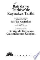 Batı'da ve Türkiye'de kaynakça tarihi