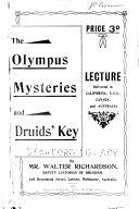 Olympus Mysteries and Druids  Key