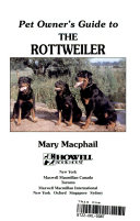 Pet Owner s Guide to the Rottweiler