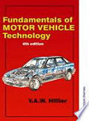 Fundamentals of Motor Vehicle Technology Book