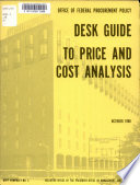Desk Guide to Price and Cost Analysis