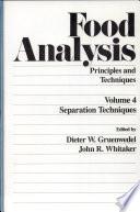 Food Analysis Book