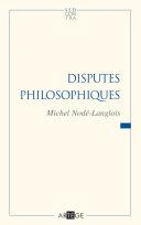 Pdf Disputes philosophiques Telecharger