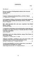 University Of Dar Es Salaam Library Journal