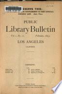 Public Library Bulletin