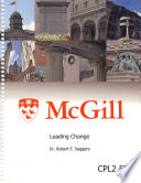 McGill-Leading Change, Robert E. Sagger, 2014