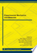 Experimental Mechanics and Materials