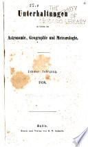 Wochenschrift für astronomie, meteorologie und geographie ...