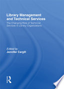 Library Management And Technical Services
