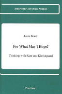 For what May I Hope  Book