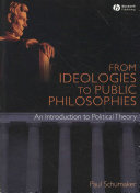 From Ideologies to Public Philosophies Book PDF