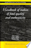 Handbook Of Indices Of Food Quality And Authenticity Book PDF
