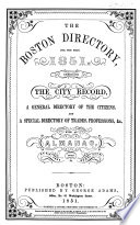 The Boston Directory ...