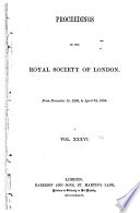 Proceedings Of The Royal Society Of London Book PDF