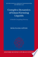 Complex Dynamics of Glass Forming Liquids Book