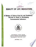 Quality Of Life Indicators Book PDF