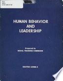 Human Behavior and Leadership