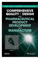 Pdf Comprehensive Quality by Design for Pharmaceutical Product Development and Manufacture Telecharger