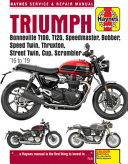 Triumph Bonneville T100  T120  Speedmaster  Bobber  Speed Twin  Thruxton  Street Twin  Cup and Scrambler 900 And 1200   16  19