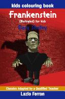 Frankenstein  Illustrated  for kids   Kids Colouring Book