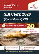 SBI Clerk 2020 | Practice Kit for Clerk (Prelims & Mains) VOL-I | 20 Full-length Mock Tests