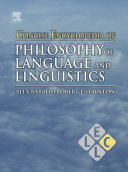 Concise Encyclopedia of Philosophy of Language and Linguistics