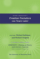 Pdf Henri Bergson's Creative Evolution 100 Years Later Telecharger