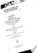 Extension of Farm and Related Programs Book PDF