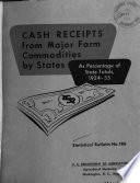Cash Receipts From Major Farm Commodities By States