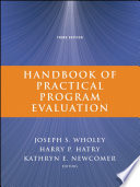"""""""Handbook of Practical Program Evaluation"""" by Joseph S. Wholey, Harry P. Hatry, Kathryn E. Newcomer"""