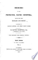Memoirs of the Protector  Oliver Cromwell