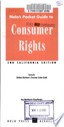 Nolo's Pocket Guide to Consumer's Rights