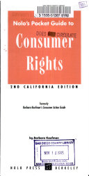 Nolo s Pocket Guide to Consumer s Rights