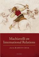 Pdf Machiavelli on International Relations Telecharger