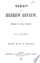 HPFAMH The Hebrew review  and magazine for Jewish literature  ed  by M H  Bresslau Book PDF