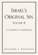 Pdf Israel's Original Sin