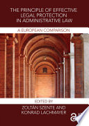 The Principle of Effective Legal Protection in Administrative Law