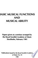 Basic musical functions and musical ability