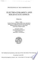 Proceedings of the Symposium on Electro Ceramics and Solid State Ionics