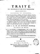 Traité des principales et des plus frequentes maladies externes et internes