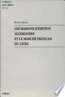 Les maisons d'édition allemandes et le marché français du livre