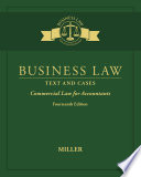 Business Law  Text   Cases   Commercial Law for Accountants Book