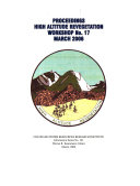 Proceedings  High Altitude Revegetation Workshop No  17