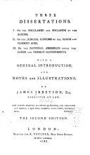 Three Dissertations