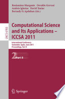 Computational Science and Its Applications   ICCSA 2011 Book