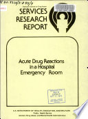 Acute Drug Reactions in a Hospital Emergency Room Book