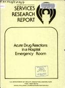 Acute Drug Reactions in a Hospital Emergency Room