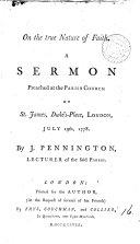 On the true nature of faith  a sermon
